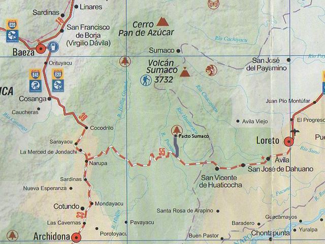 Mapa Sumaco