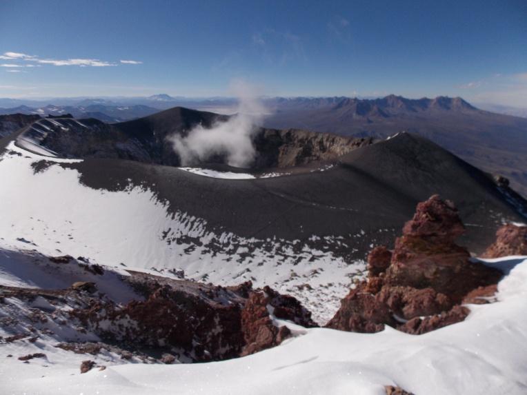 Cráter del Misti, similar al del Cotopaxi