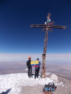 La famosa cruz del Misti