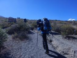 Inicia la caminata al campamento base
