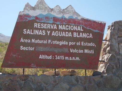 Letrero que indica el inicio de la ruta