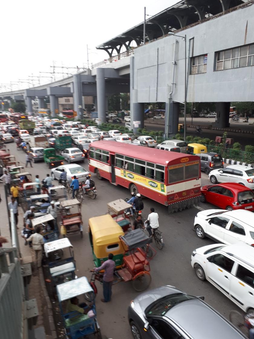 Calles de  Delhi