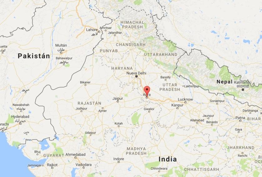Mapa de Agra