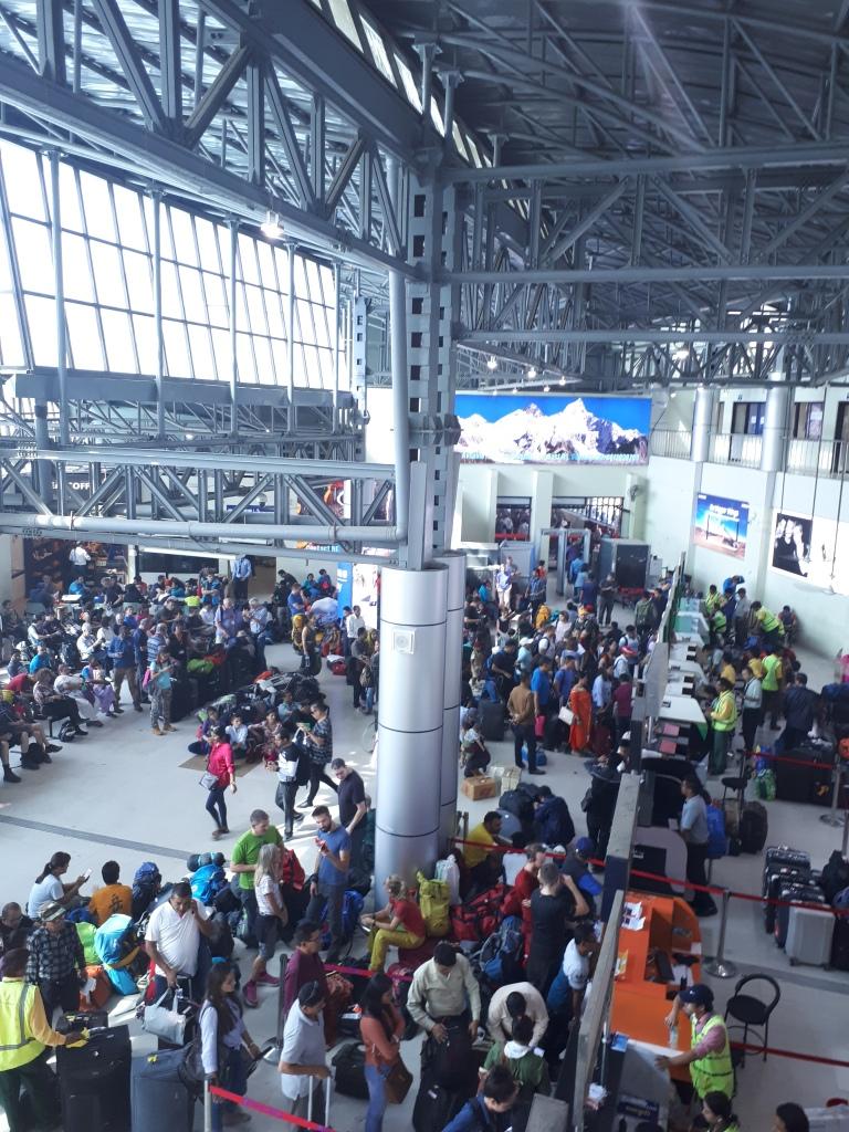 Aeropuerto en Katmandu